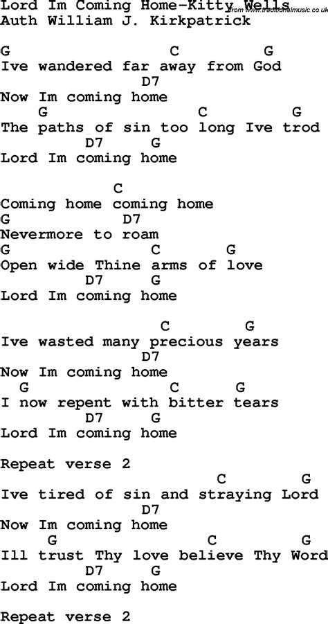 pin im coming home lyrics on