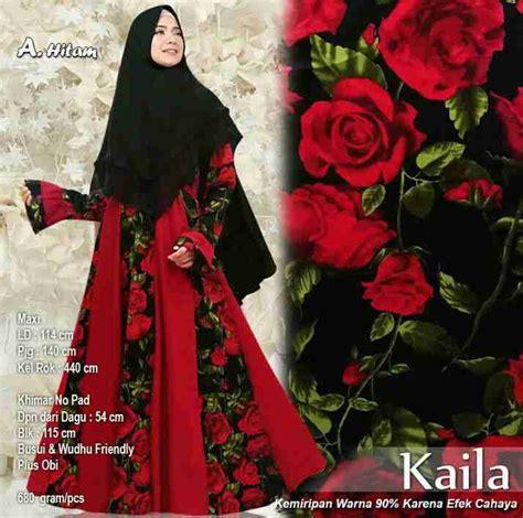 Blazer Motip gamis terbaru maxmara motif bunga kaila model baju gamis