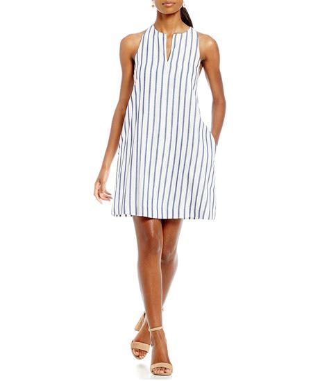 cremieux lenny stripe dress dillards