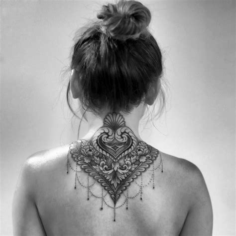 nape tattoo design gorgeous neck best ideas designs
