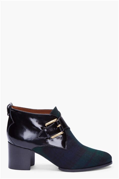 creeper boots mcq by mcqueen tartan buckled creeper boots in