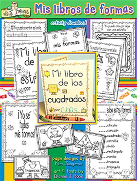 libro fun learning activities for kids can learn shapes in spanish with these fun printable books created with dj inker s clip art