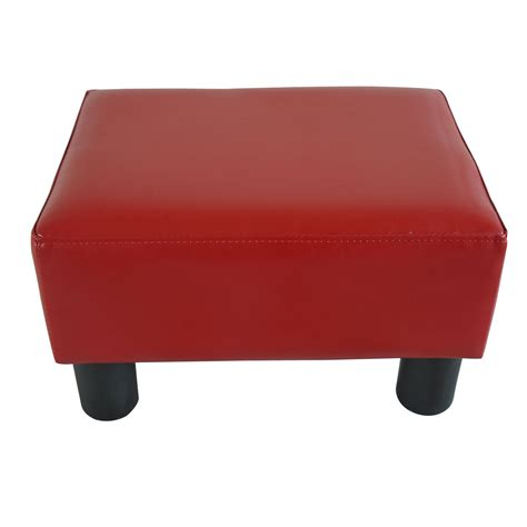 footrest ottoman modern faux leather ottoman footrest stool foot rest small