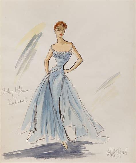 Sabrina Chiffon Grace edith costume sketch of hepburn sabrina