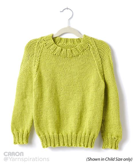 knit pattern pullover sweater caron adult knit crew neck pullover knit pattern