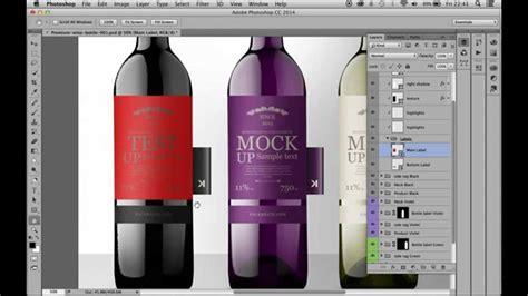 adobe illustrator cs6 wine premium wine bottles with tag psd mockup youtube