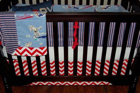 Custom Nursery Bumpers Made To Order Baseball Themed Crib Bedding