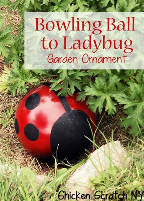 diy bowling bug garden ornament do it yourself