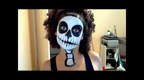 halloween tutorial easy scary skeleton youtube