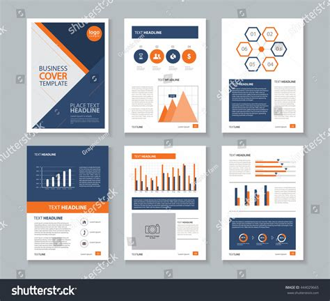 design elements report company profile annual report layout template stock vector