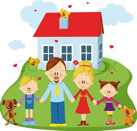 family  home stock vector colourbox