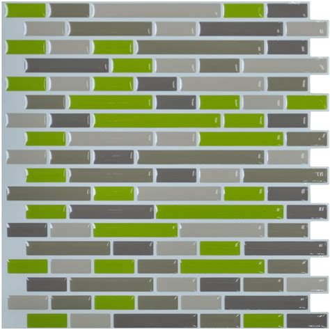 Set Tile Stick Hime peel n stick wall tile for kitchen backsplash 10 quot x10 quot set