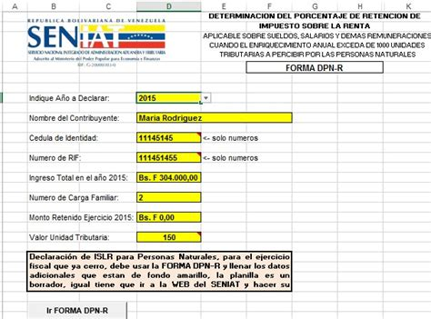 tabla retenciones islr venezuela 2015 calculo islr persona natural 2016 c 225 lculo de islr