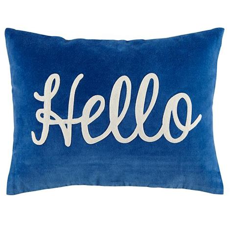Pillow Hello by Hello Throw Pillow The Land Of Nod