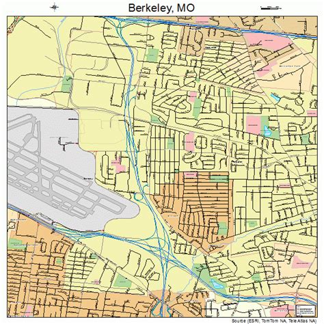 berkeley map berkeley missouri map 2904906