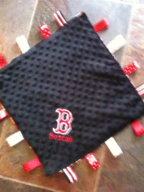 Boston Sox Baby Blanket by Boston Sox Personalized Taggie Blanket By