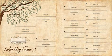 genealogy templates free calendar template 2016