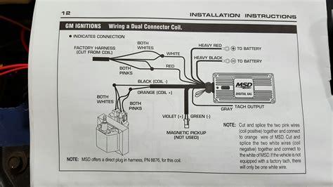 msd digital   tach wiring  generation  body message boards