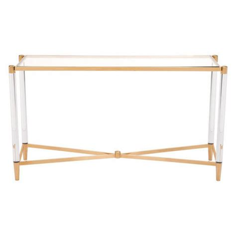 Clear Acrylic Gold Console Table Modern Furniture Clear Acrylic Sofa Table