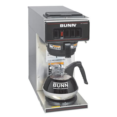 bunn coffee makers bunn vp17 1 ss pourover coffee brewer with 1 lower warmer