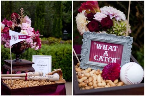 home confetti merry monday baseball themed wedding