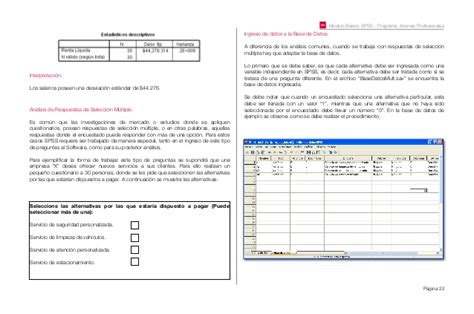 manual for spss 22 manual basico spss