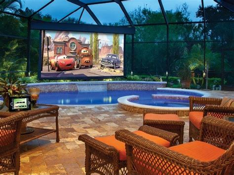 creating  outdoor home theater wearefound home design