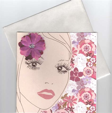 Flower Power Gift Card - flower power flirty 60s girl blank greeting card review compare prices buy online