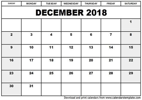 printable calendar november december january printable calendar december 2018 and january 2018