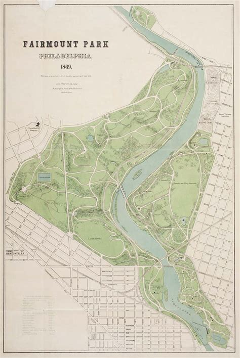 fairmount park map philadelphia on section i lithography an overview