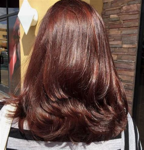 light mahogany brown hair color with what hairstyle blonde hair with mahogany highlights