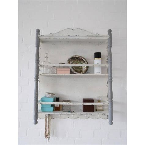 shabby chic bathroom wall shelf