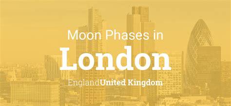 moon phases  lunar calendar  london england united kingdom
