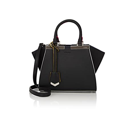 Fendi 3 Jours Black fendi 3jours mini satchel in black lyst