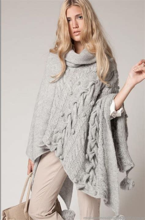 pinterest moda tejida 2016 403 best images about ponchos dos agujas on pinterest