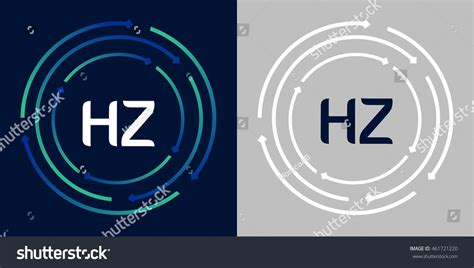 circle logo design swash blue green stock vector 254031382 hz design template elements abstract background stock