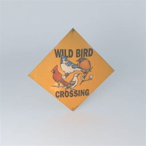 wild bird crossing sign free 3d model max obj 3ds