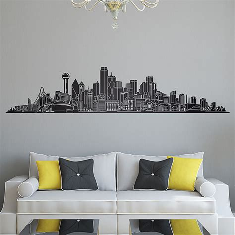 Dallas Skyline Sticker sticker mural dallas skyline webstickersmuraux