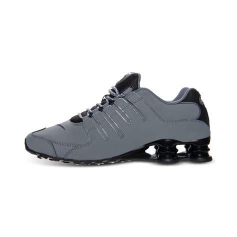 mens nike shox nz eu running shoes nike mens shox nz eu running sneakers in gray for lyst