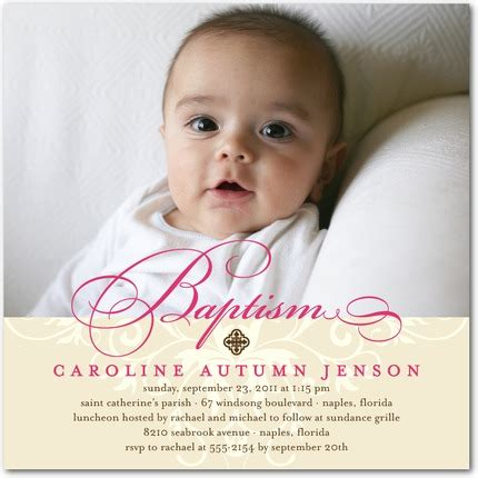 baptism photo card template precious swirls baptism invitation cards religion