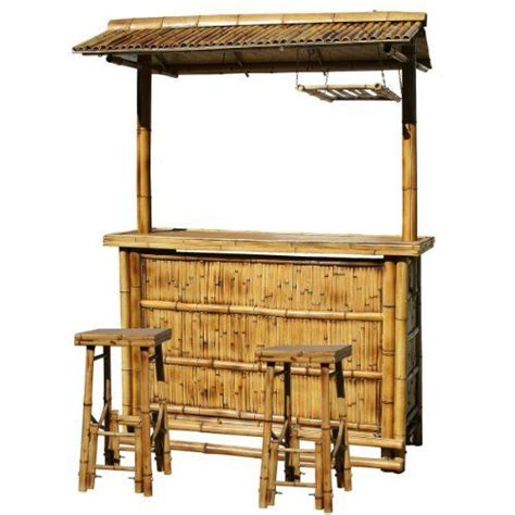 backyard tiki bar sets amerihome babbrc outdoor bamboo tiki bar set 3 piece by