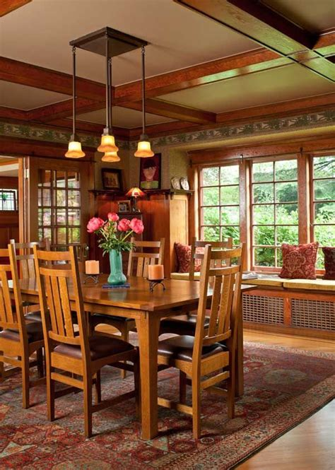 craftsman dining room craftsman dining table dining room transitional with