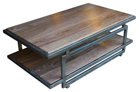 coffee table awesome steel coffee table walnut steel