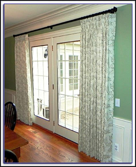 curtain rod center support patio door curtain rod without center support curtain
