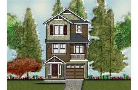 3 story narrow lot home floor plans