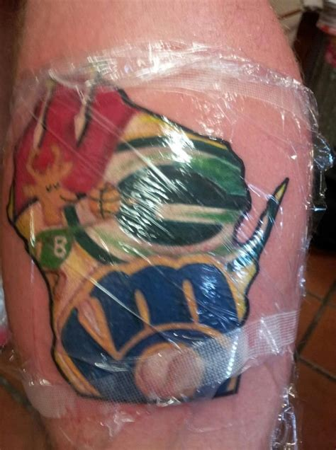 wisconsin tattoo 9 best packer tattoos images on ideas