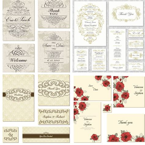 free vintage wedding invitation vector vintage wedding invitation vector free vectors images