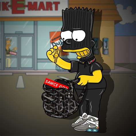 Bantal Hypebeast Sneaker Fans Supreme Gucci bart fly robbery by fragmentface on deviantart