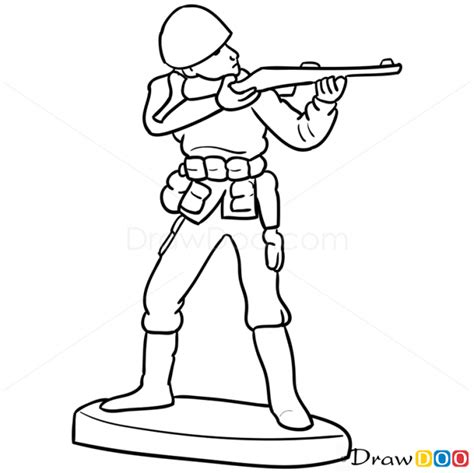 how to draw a army boat step by step drawn soldier toy soldier pencil and in color drawn