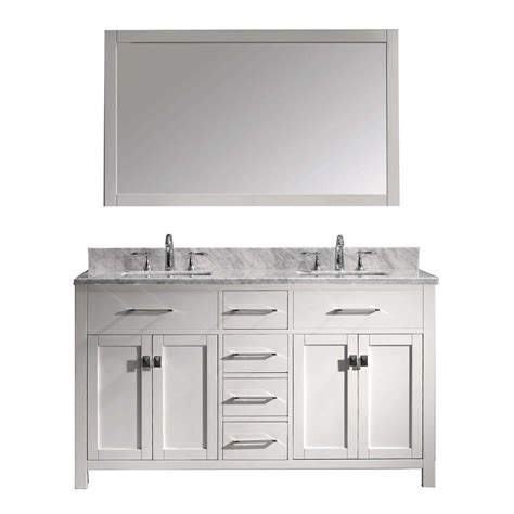 home depot design your own vanity virtu usa caroline 60 in w x 36 in h vanity with marble